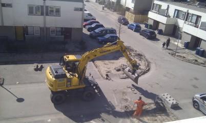 Weer een plaatje van de bouwvakkers