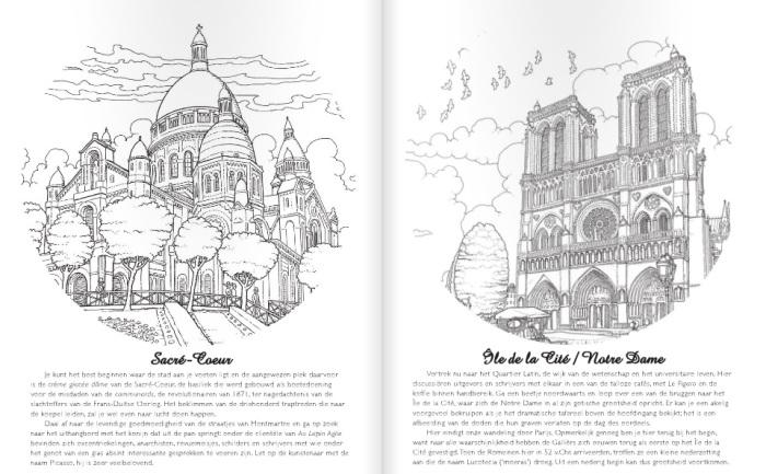 Kleurplaten Voor Volwassenen Parijs.Kleurboek Voor Volwassenen Parijs Editie Meer Suavemente